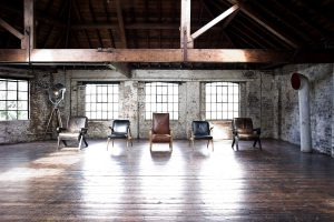 rustic warehouse venue, unusual venue