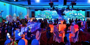 Being creative with wall space in blank canvas venues